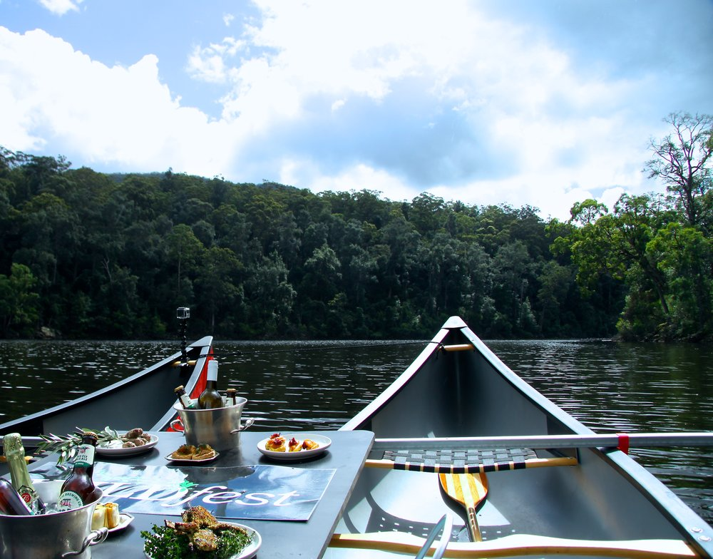 WILDfest Wild Canoe Experience in Custom-Crafted Double-Rig Canoes with Forest Canapes and Champagne on Ice.jpg