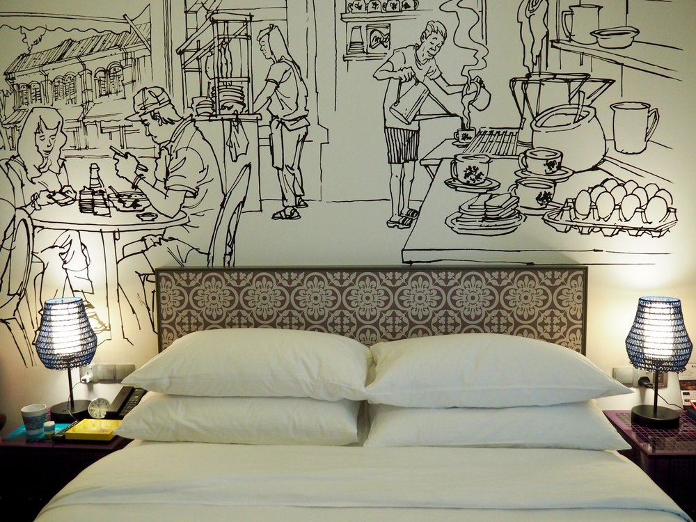 The cool, funky guestrooms.