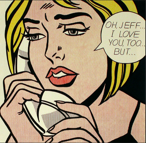 "Image Description: Lichtenstein's ""Oh, Jeff."" Image Attribution:  Jennifer Mei  on flickr"