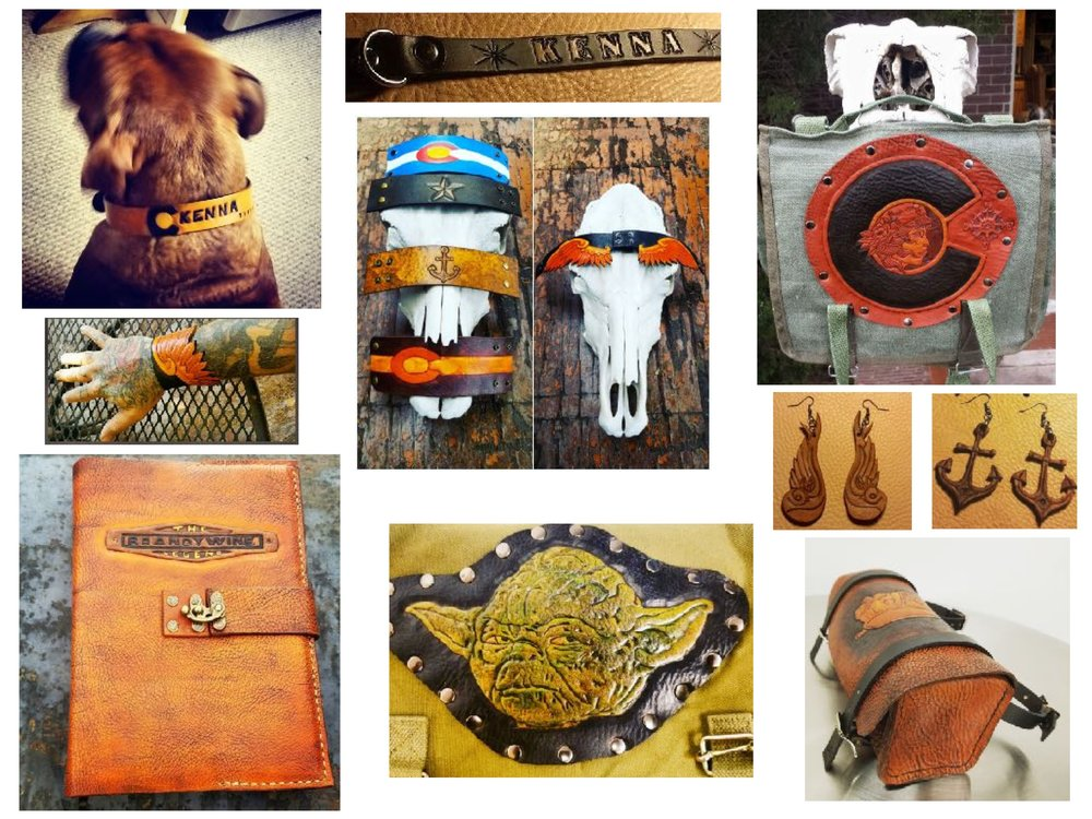 Cuffs, Dog Collars, Earrings, Journals & More!