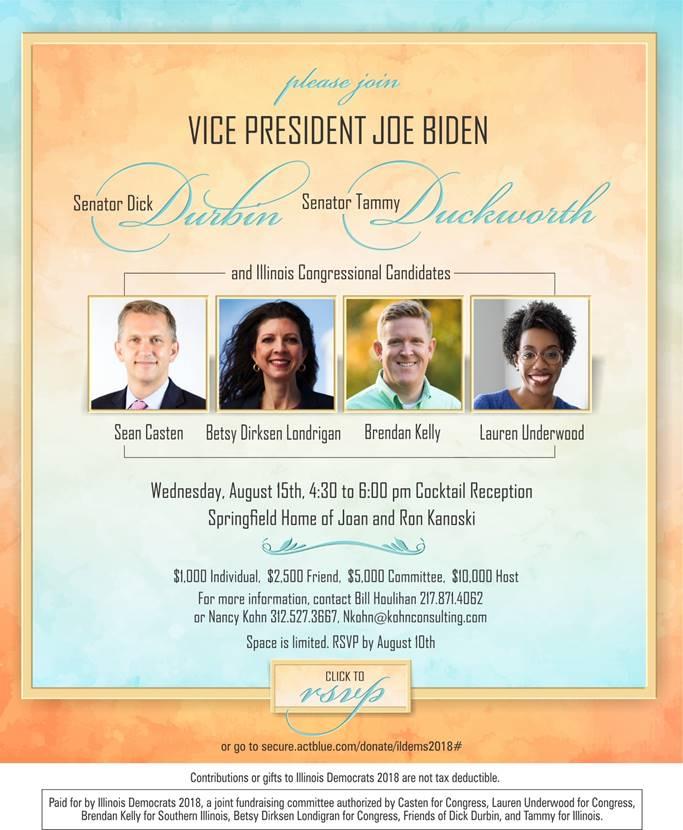 Fundraising Reception With Vice President Biden Lauren Underwood