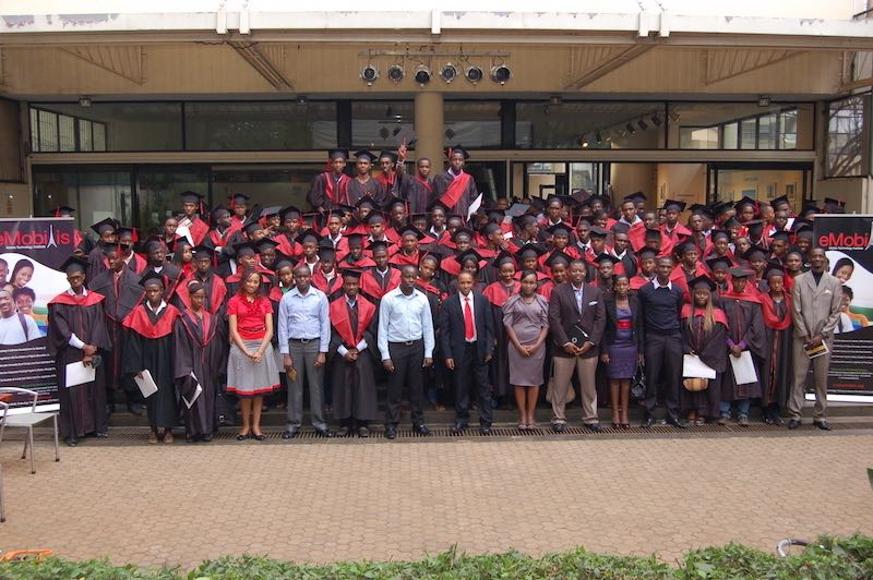 graduating students at emobilis mobie technology institute in Nairobi, Kenya