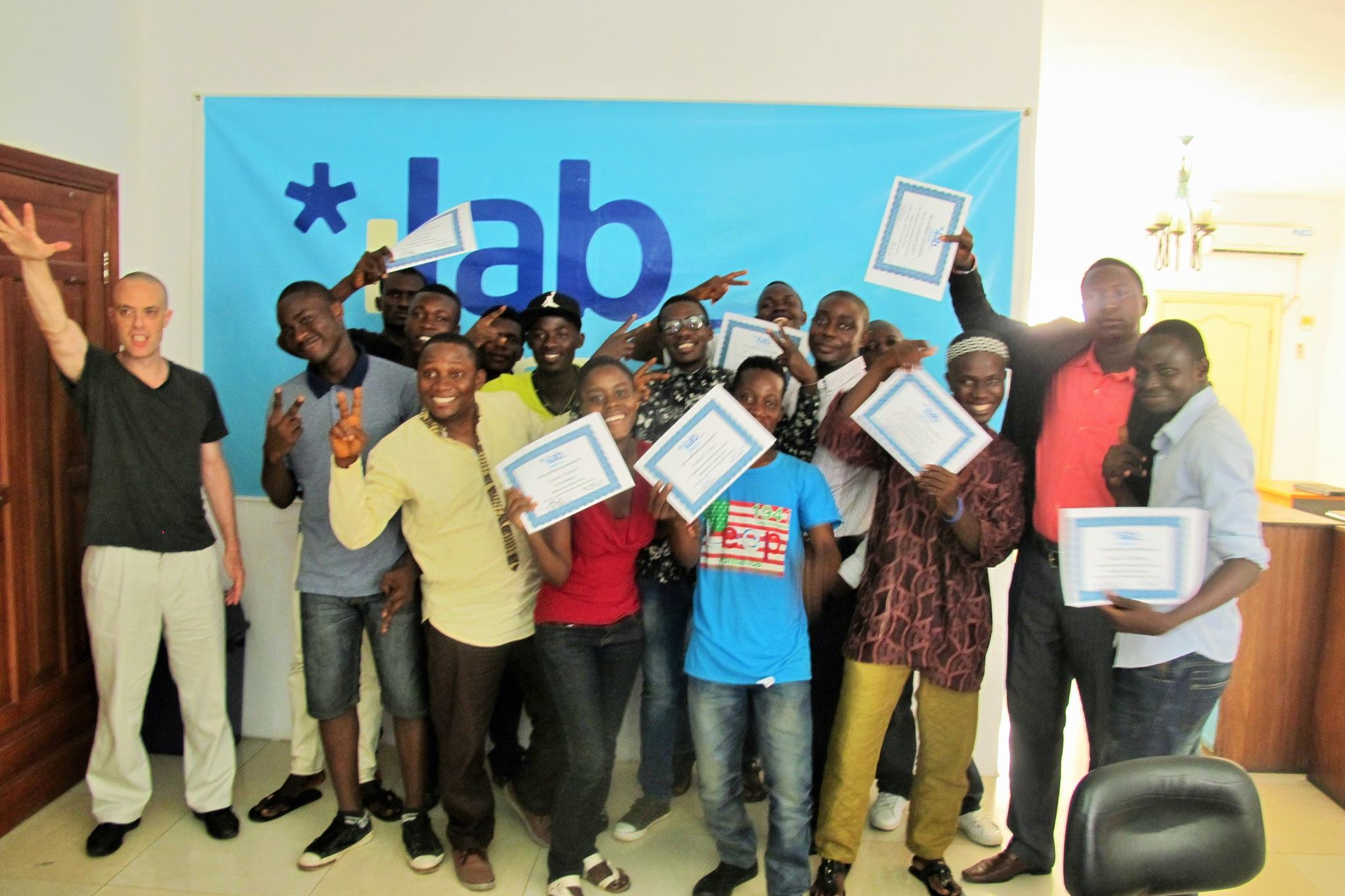 Graduating in a technology course for workforce development at iLab Liberia in Monrovia (www.codeinnovation.com)