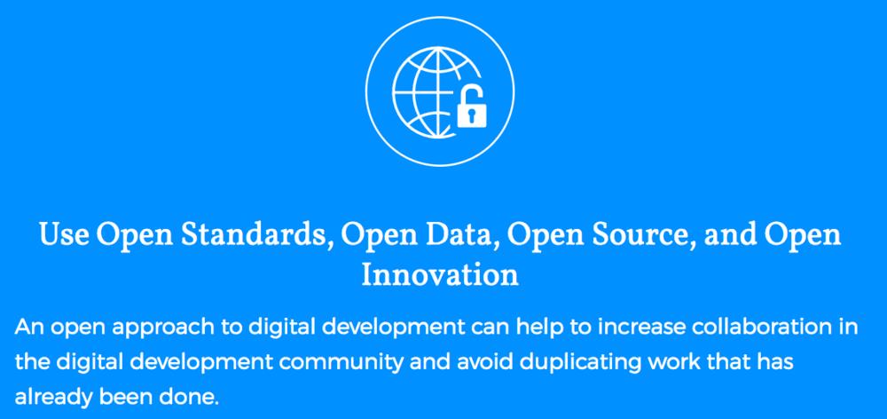 Digital Principle 6 on Open Source (www.digitalprinciples.org)
