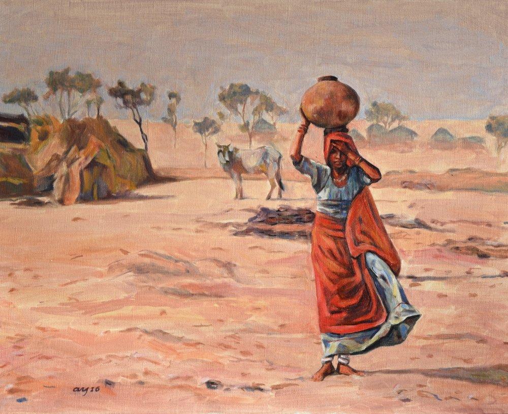 Water Bearer, Thar Desert