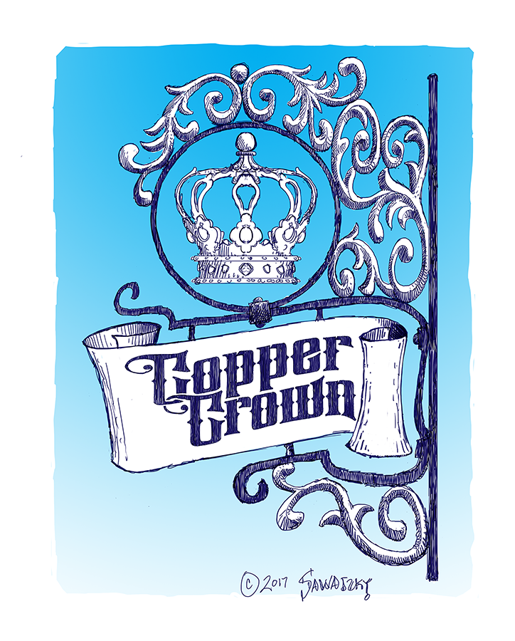 Copper Crown Sign Concept