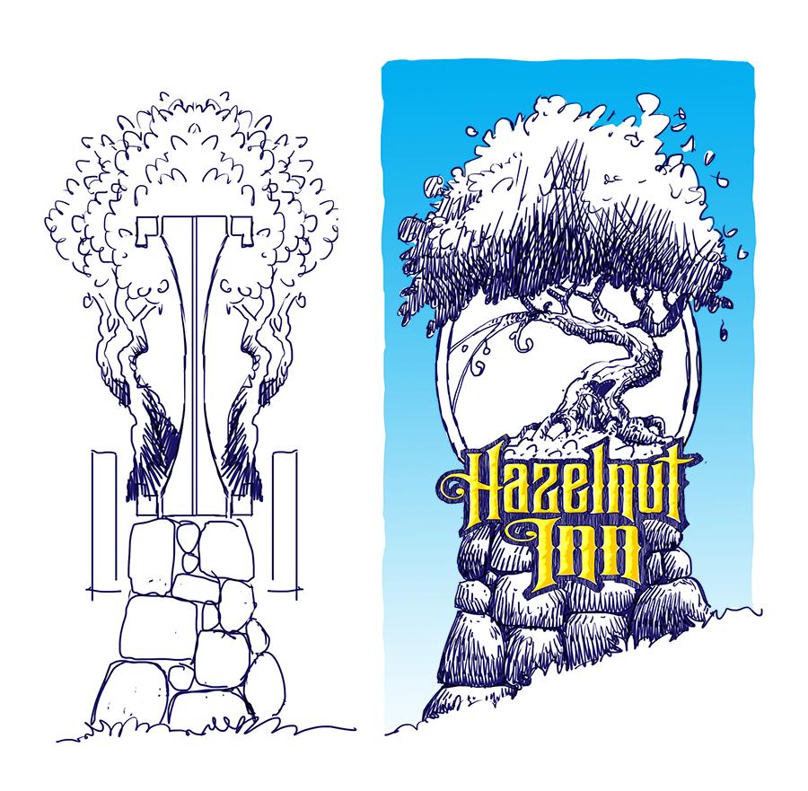 Hazelnut Inn Sign Concept