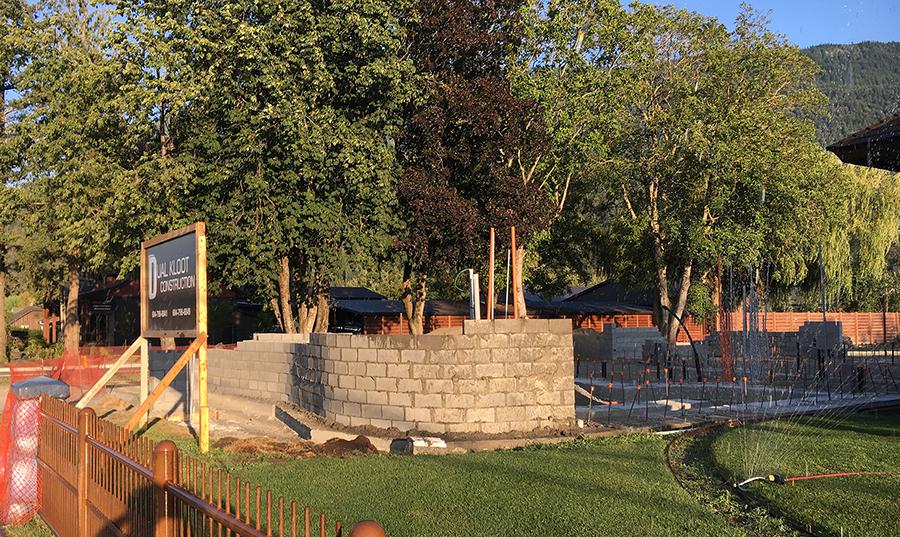 front wall blocks