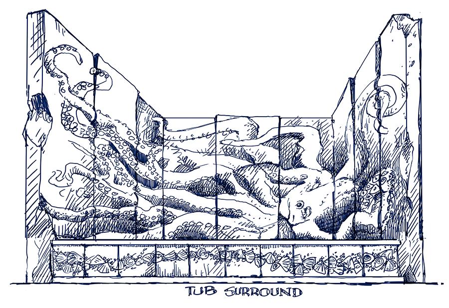 Soaker Tub Surround