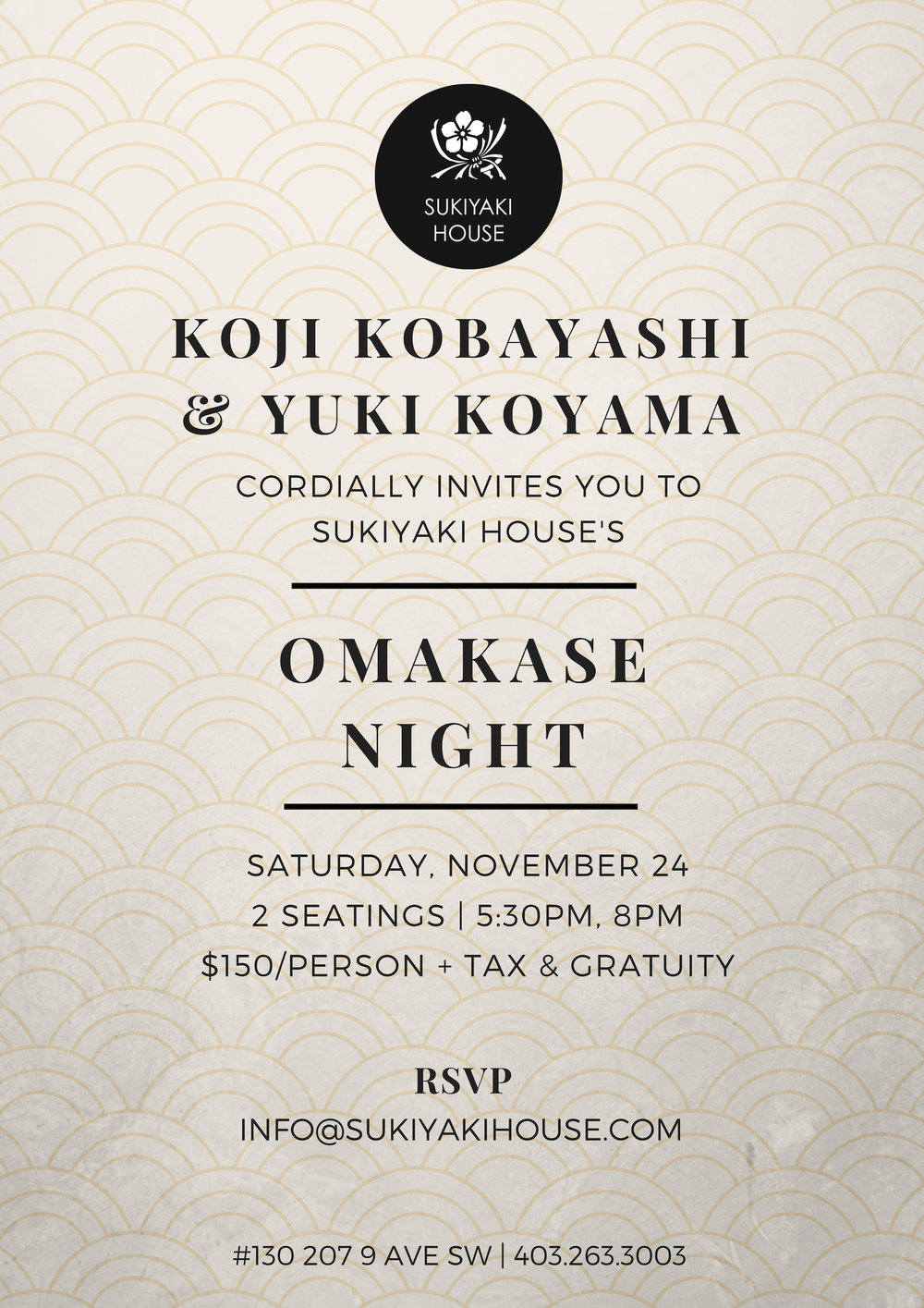 Sukiyaki House - Omakase Night