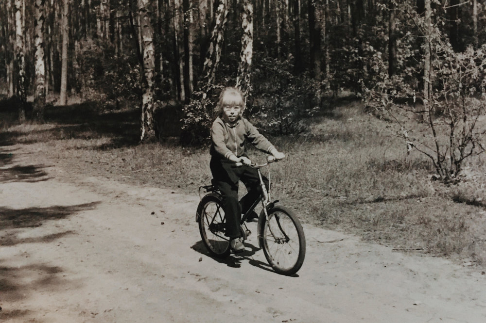 Fahrradtour mit der Familie, 1987