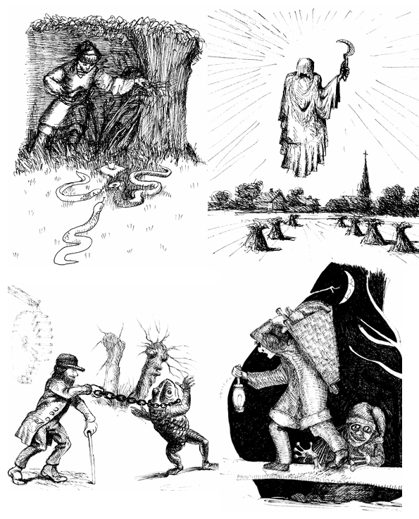 Illustrationen Sagengeister   Fred Pötschke /Annette Bricks
