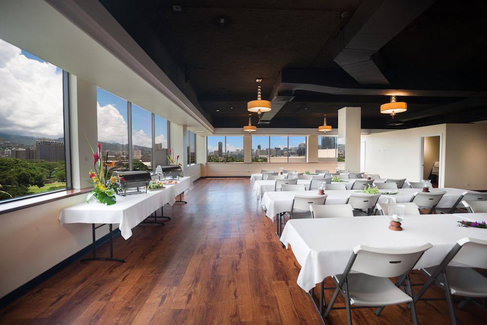 Meeting setup for private events at the Honolulu Club