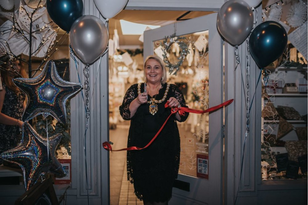 The Mayor of Cheltenham cutting the ribbon - Photo by Maya Bodzan Photography