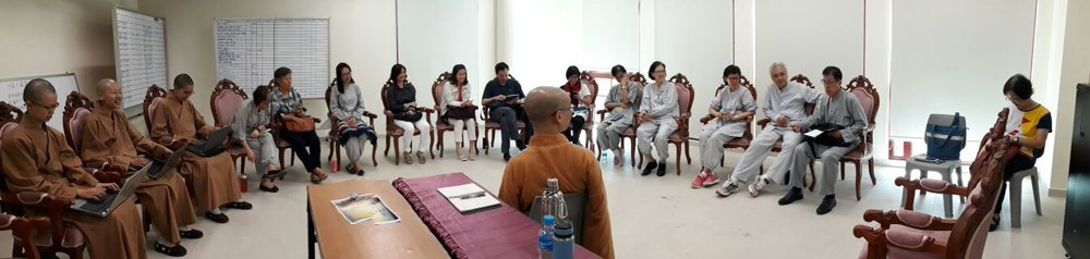 #BW Monastery Venerable Bensi led the Bhikkhuni Venerables and lecturers in discussing seminars and course development for the near future. #吉祥宝聚寺本思法师带着比丘尼法师与讲师们商讨寺院未来讲座、课程的发展事宜。