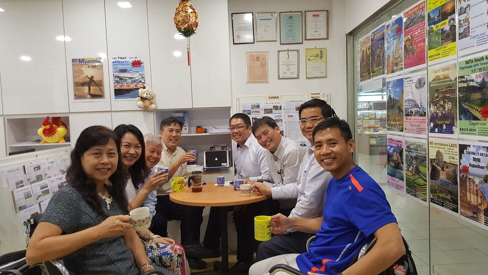 A meeting held at Mr Kok's office in People's Park Centre.