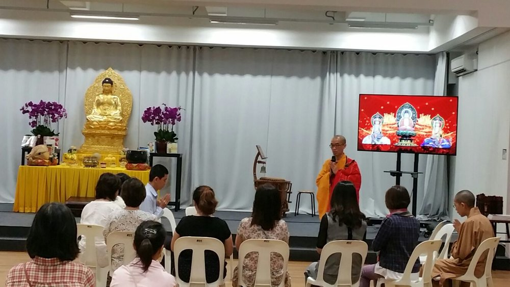 Deputy Abbot  giving a discourse to BW Monastery staff