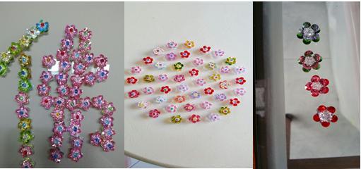 提爱师姐召集了班上的同学及一些福友陆续完成了九百多朵大小水晶莲花