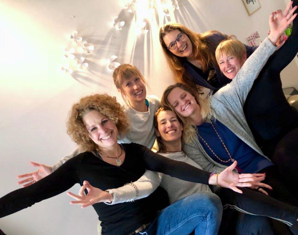 Susanne, Jasmin, Martina, Syndi, ich und Annette
