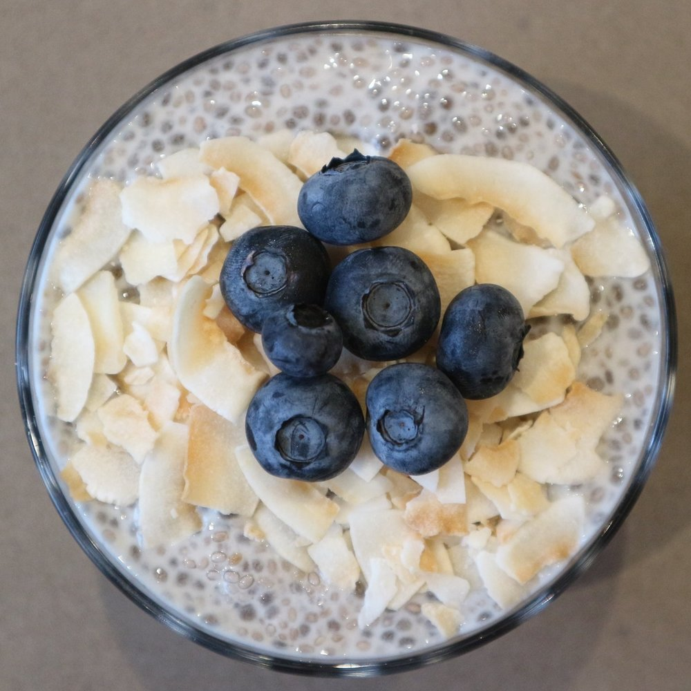 Ingredients - 100g chia seeds of your choice. I use The Chia Co400ml almond milk or liquid base of your choice1 Tbsp vanilla extract or a vanilla pod2 Tbsp yogurt- I use coconut greek yogurt by Alpro