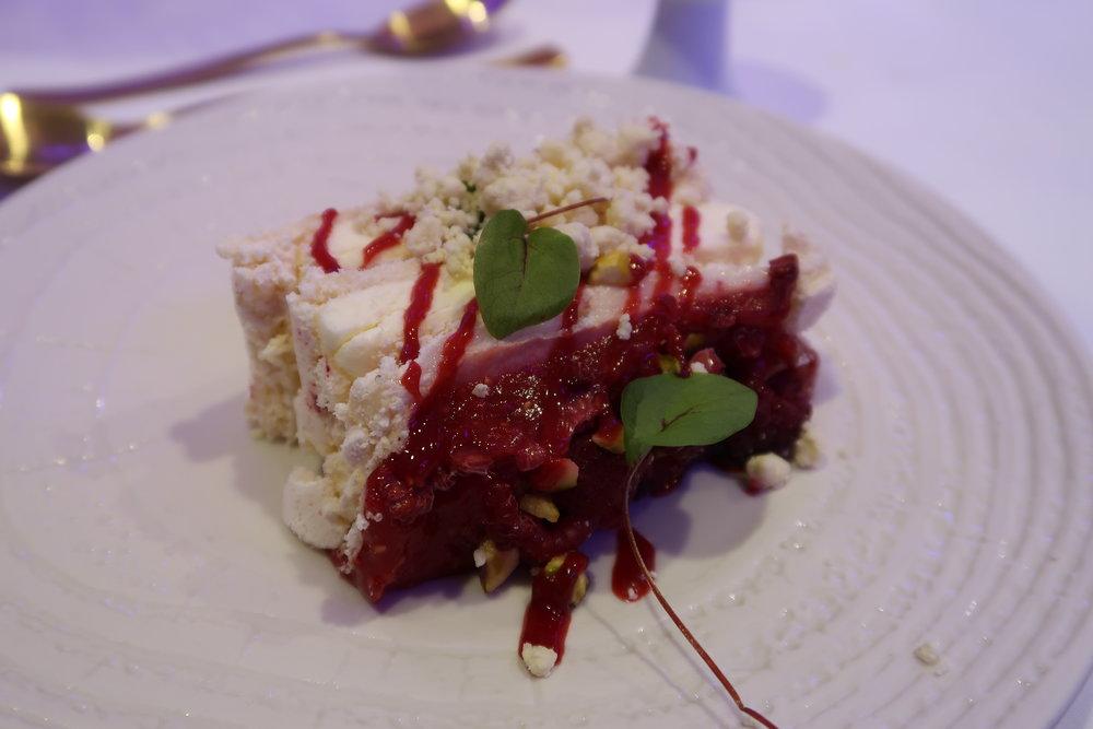 Luxury Raspberry & Pistachio Layered Pavlova