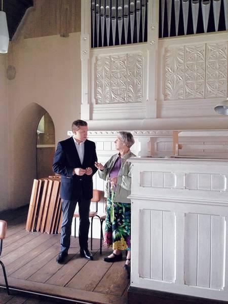 Gottfried Ludewig in der Rosenthaler Kirche