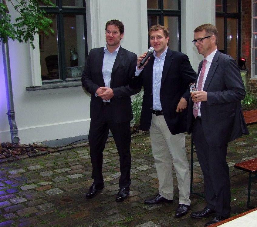 Eröffnung des Bürgerbüros in der Rykestraße mit Dirk Stettner, Gottfried Ludewig und Stephan Lenz (v.li.)
