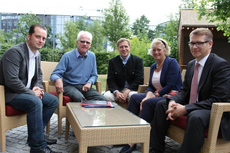 Johannes Kraft, Volker Hassemer, Gottfried Ludewig, Monika Grütters, Stephan Lenz (v. li.)