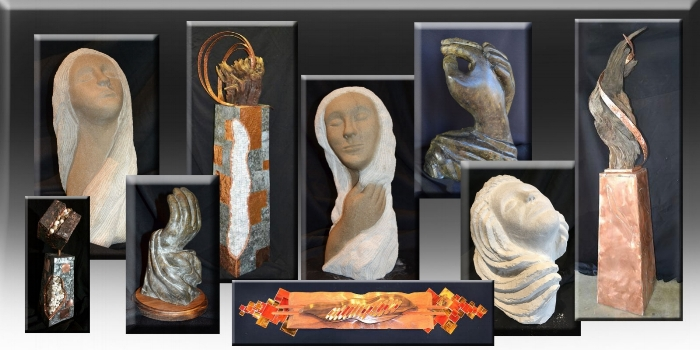 Three dimensional original designs by artist Paul Chase. Sculptures in metal, glass, wood, concrete and stone – 10″ to 10′ CLICK HERE