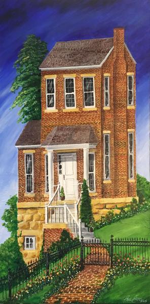 """""""Bricks and Sky"""" 24""""x48"""" acrylic on canvas - $1000"""
