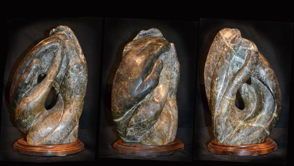 """SwirlingStoneHands"" - 12"" - Oregon soap stone - $800"