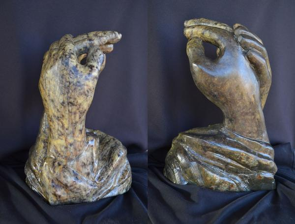 """HandsTogether"" - 16"" - Oregon soapstone - $1000"