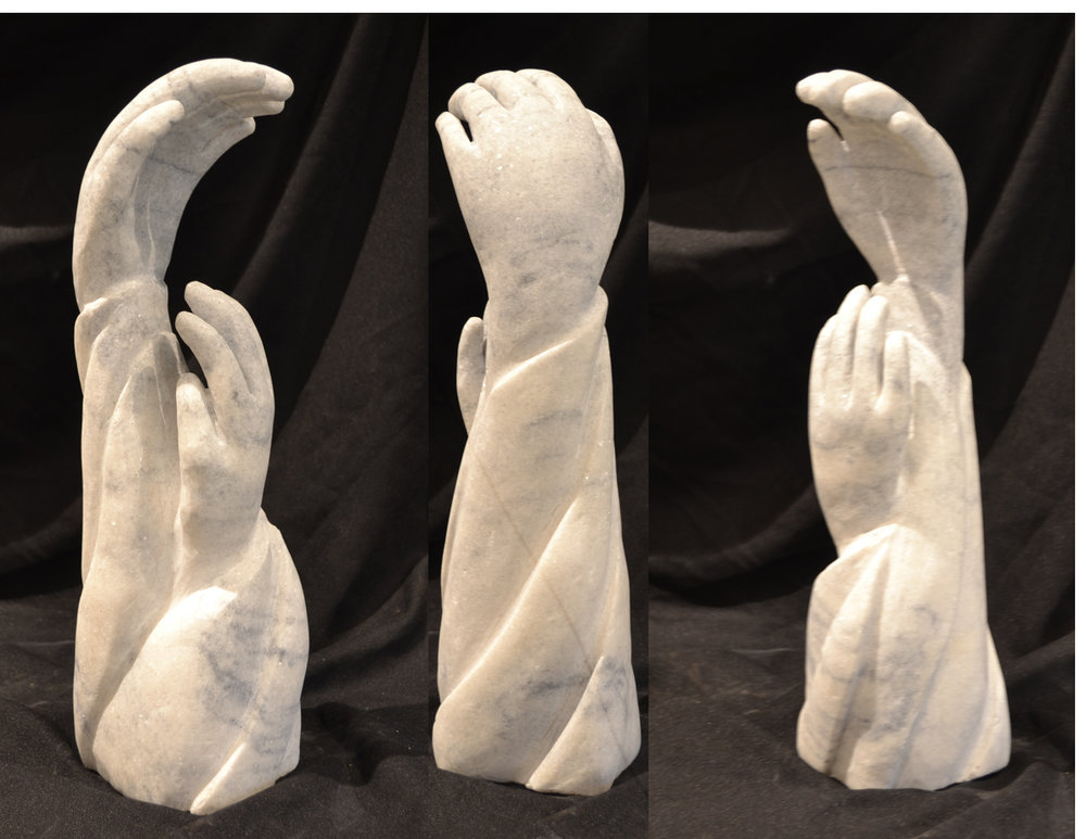 """Reaching HigherTogether"" - 13"" - Marble - $1800"
