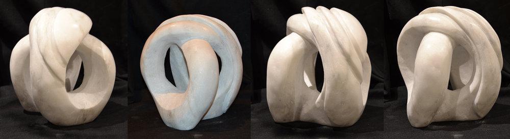 """""""FollowMeInWhiteStone"""" - 10x10x10"""" - white Marble - in private collection"""