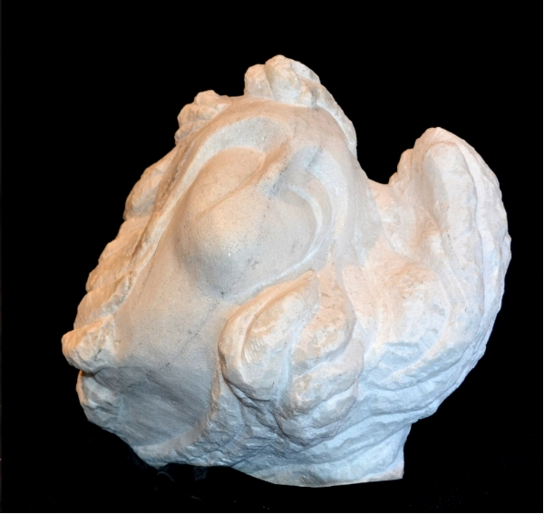 """Swirling Stone Dreams"" - 13x13x13"" - Vermont Danby Marble - $2000"
