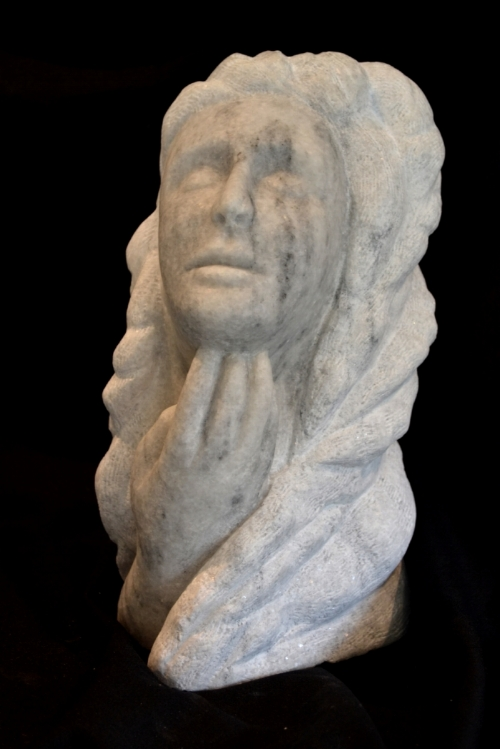 """lookingThroughYou"" - 16"" - Marble - $1000"