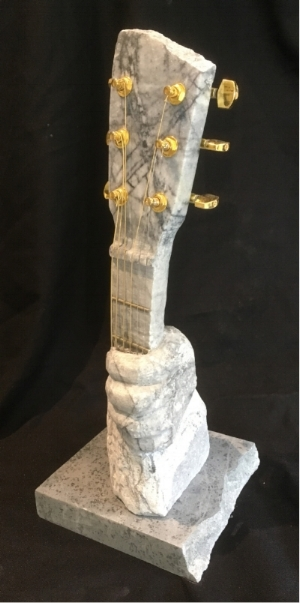 """The Stone Player"" - Marble, soapstone base - 16x6x6"" - $1200"