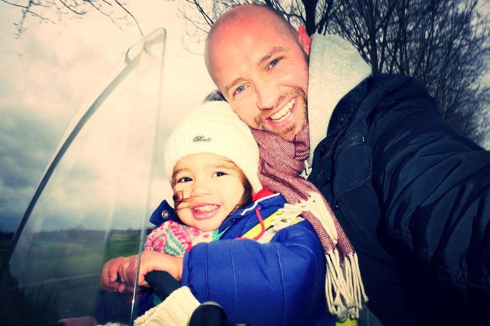 Martijn and daughter, Carmen Sofia