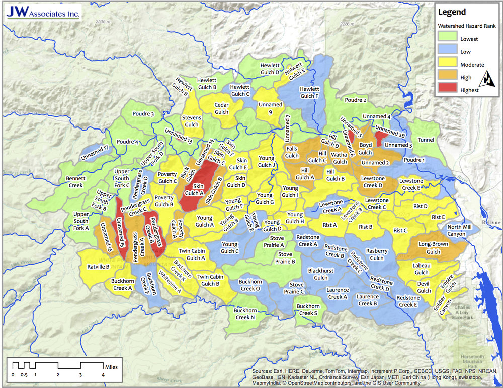 High Park Fire Small Watershed Targeting Prioritization