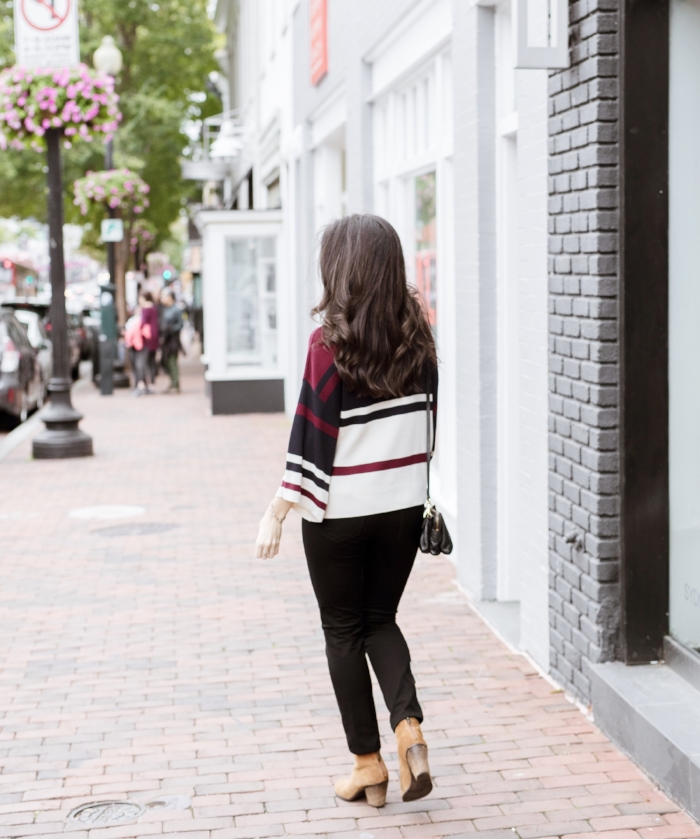 striped sweater outfit
