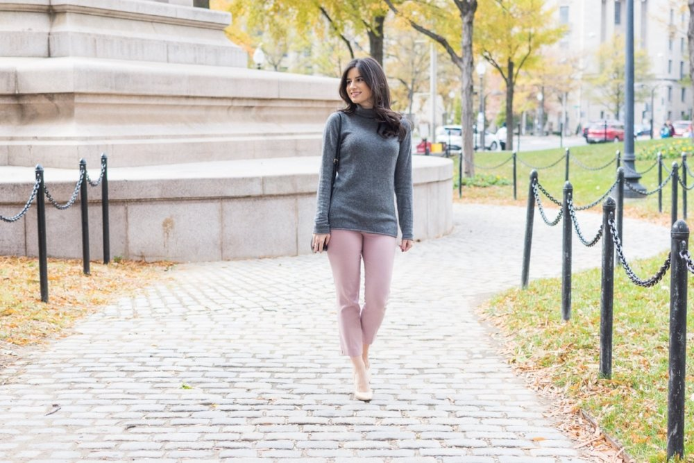 Cashmere Sweater and Pastels