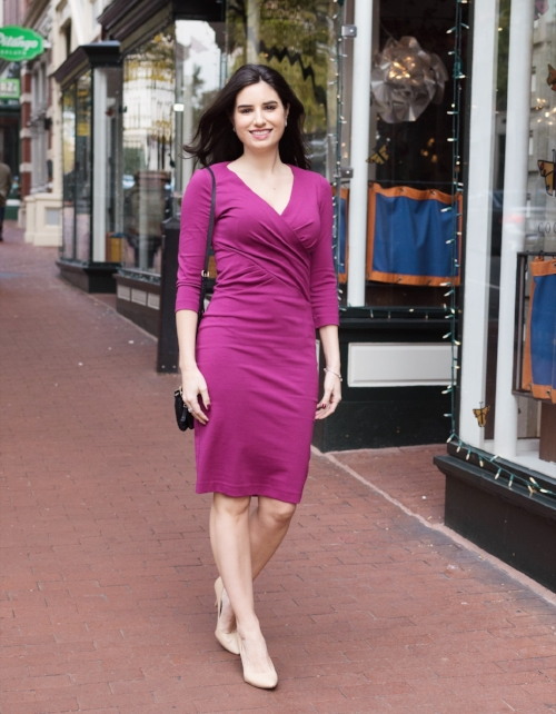 Beautiful dresses in solid bold colors for work