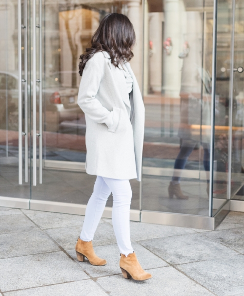 Soft Pastels with Ankle Booties Outfit Idea