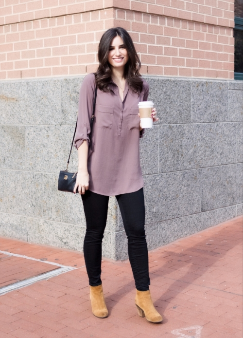 Chic mauve slouchy top