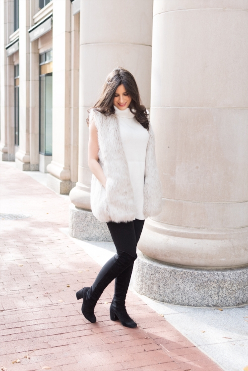 Cozy furry vest for winter!