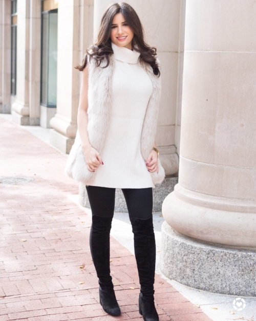 Chic snow bunny outfit!
