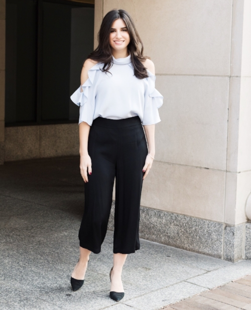 Culotte Pants and Pastel Top