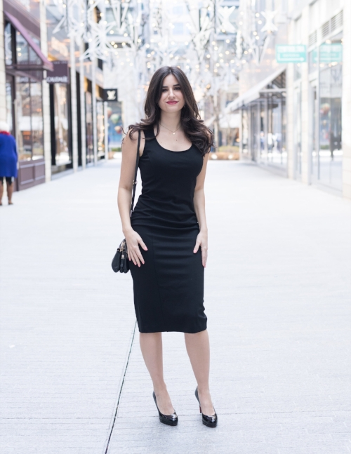 Three ways to style a black dress