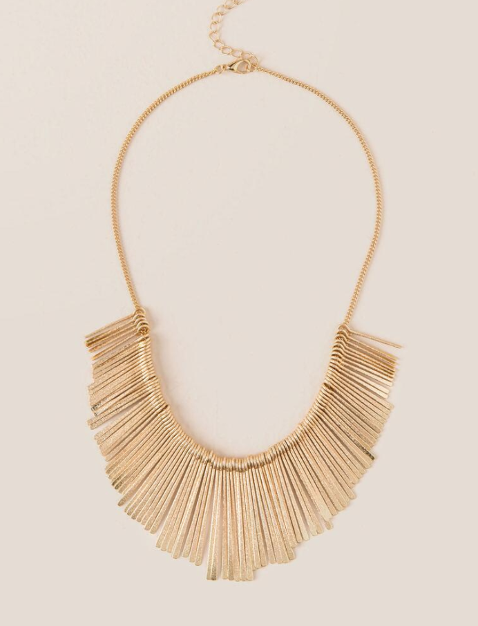 Similar {Gold Statement Necklace}