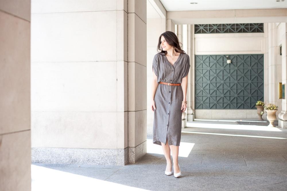 Pretty Casual Gray Dress